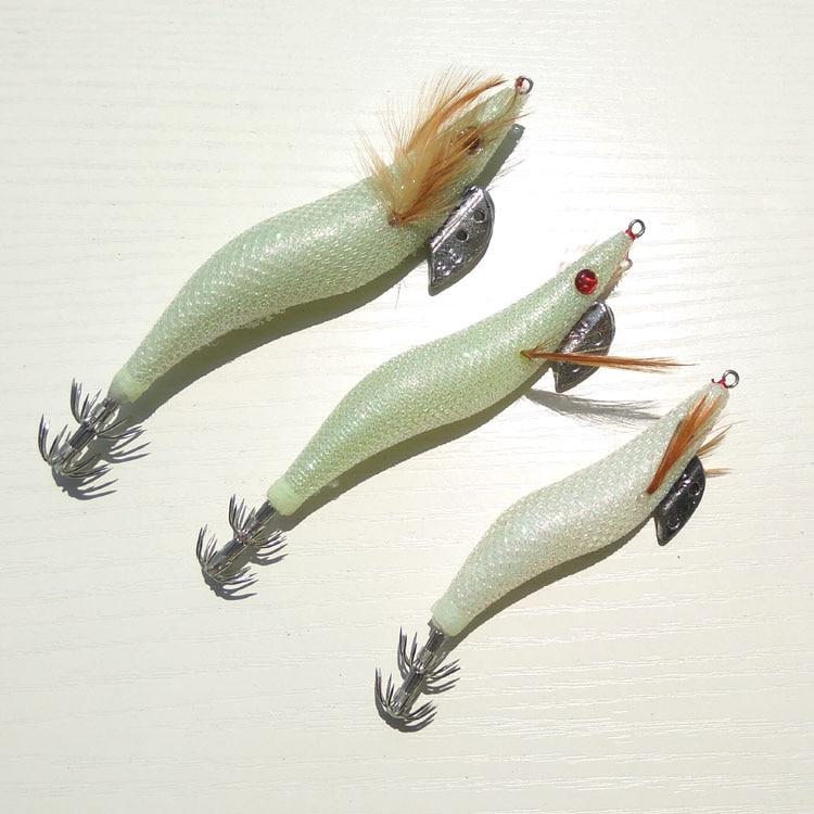 5pcs glow in dark 2 5 3 0 3 5 squid jigs fishing squid for 5 3 fishing