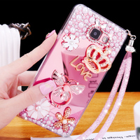 2017 New Luxury Girl Woman Lady Soft TPU Plating Mirror Cover Case For Samsung Galaxy A3