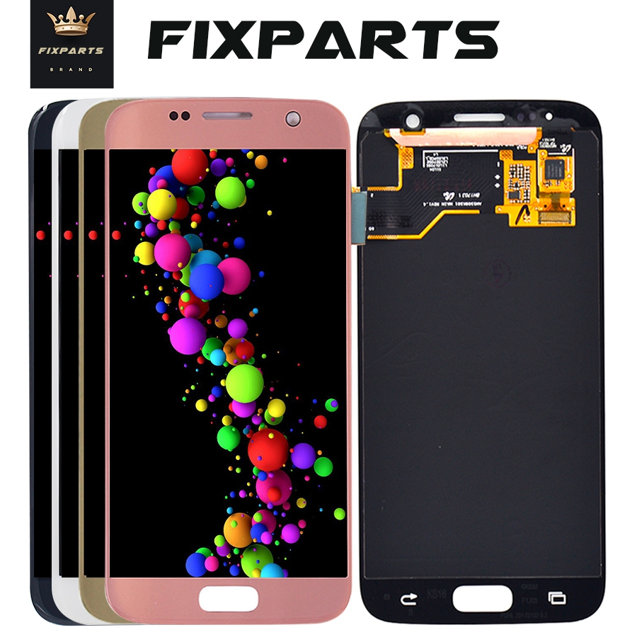 For SAMSUNG <font><b>GALAXY</b></font> <font><b>S7</b></font> LCD <font><b>G930F</b></font> SM-<font><b>G930F</b></font> <font><b>Display</b></font> Touch Screen Digitizer Assembly Pantalla Replacement G930A For SAMSUNG <font><b>S7</b></font> LCD image