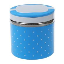 1 слой тепловой Bento Ланч-бокс термос для еды из нержавеющей стали изоляционный контейнер для еды столовая посуда наборы синий