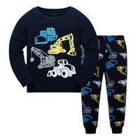 Детская Пижама с героями мультфильмов Пижама с динозавром 100% хлопок мальчиков и девочек уютный ночное семейная одежда пижамы Размер От 3 до 8 лет