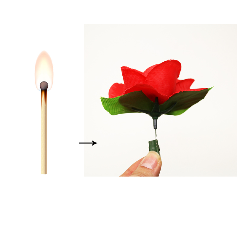 1pcs Hot Sale Match To Rose Flower Magic Tricks Professional Street Magician Prop Illusion Satge Close Up Magic Toys