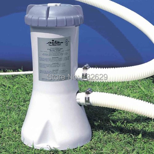 intex household Inflatable and vinyl pool water filter pump 220V 50Hz 1000 gallon/ hour spa water filter