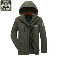 AFS JEEP 2017 Brand Jacket Men Casual Windbreaker Mens Spring Jacket Coat Hooded Collar Wide Waisted