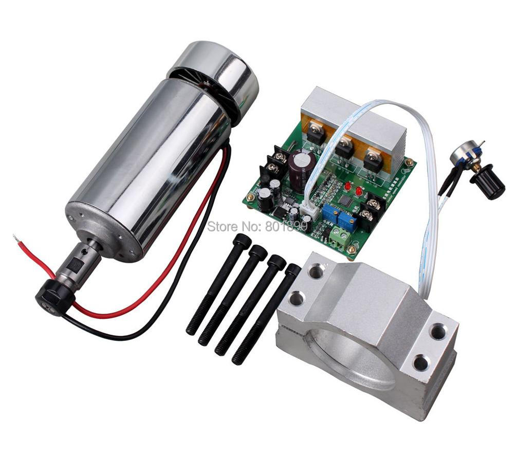 400w Dc Motor Air Cooled Spindle With Mount Bracket And