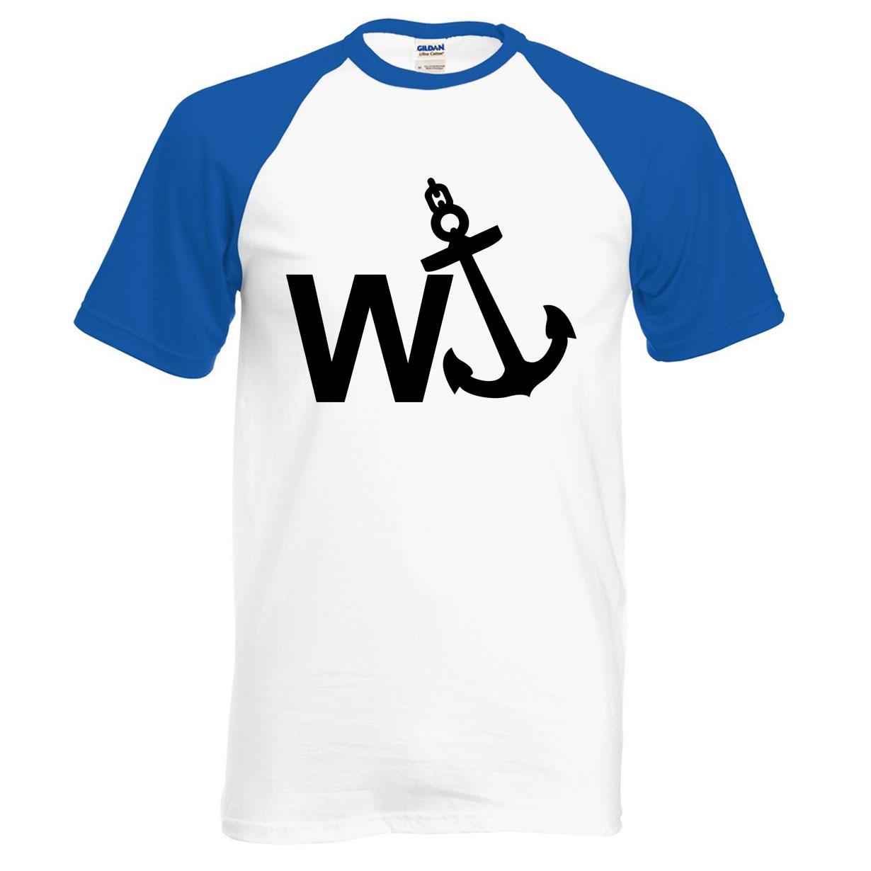 W'Anker Funny Anchor Rude Comedy men t shirt 2019 summer 100% cotton high quality raglan men t-shirt fashion short sleeve shirt