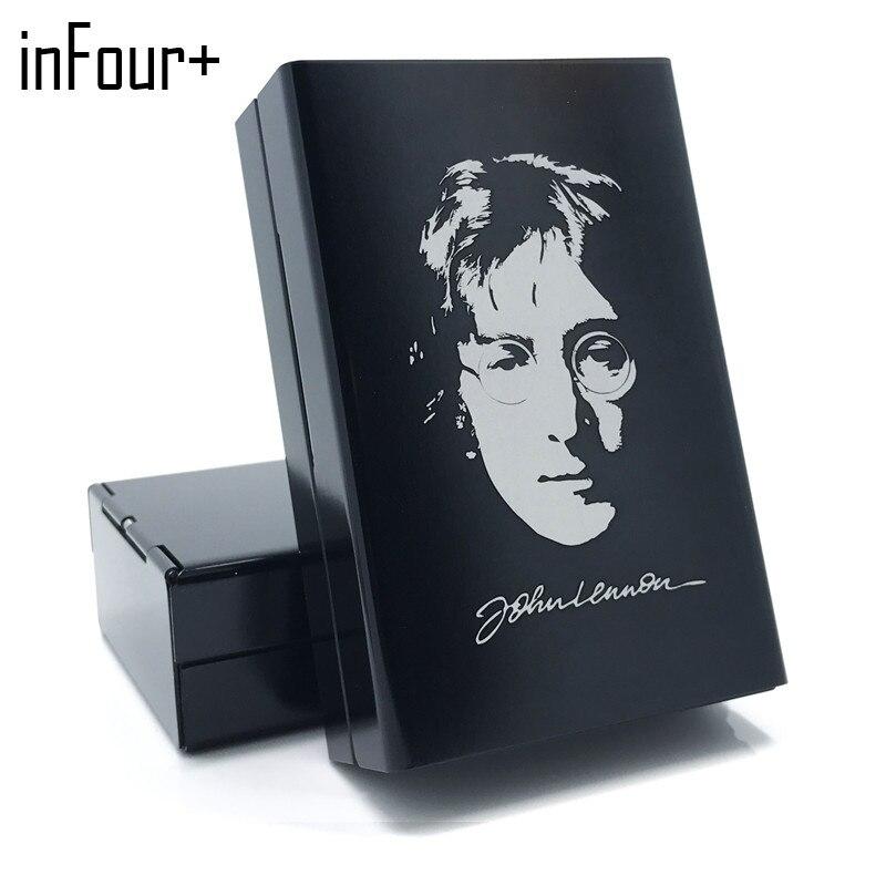 Hot Fashion John Lennon Aluminum Alloy Cigarette Box Metal
