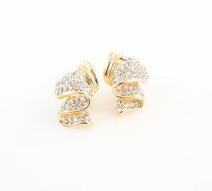 Image 5 - Conjuntos de joyas de boda con diamantes de imitación de aleación de Color dorado, collar, pulsera, anillo, pendientes para mujer, novia, venta al por mayor