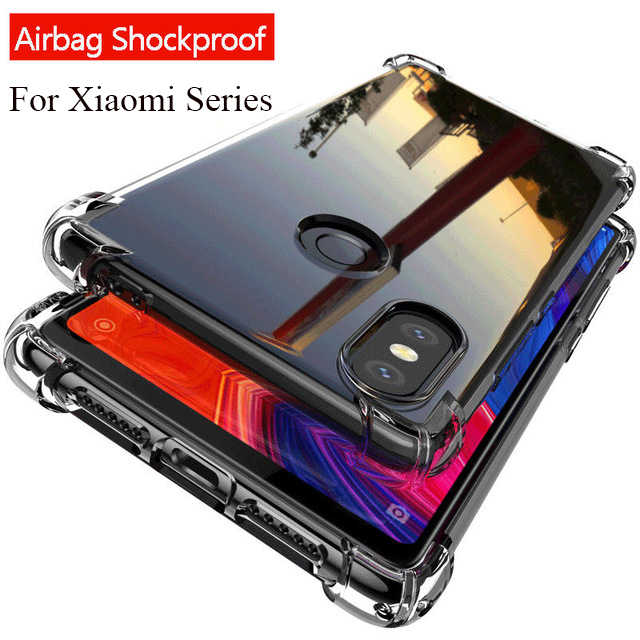 Airbag Phone Case For Xiaomi Redmi 7 Note 7 6 5 Pro 6 6A 5 Plus Mi8 9 SE 6 Mi A1 A2 Lite 6X Pocophone F1 Shockproof Coque Capa