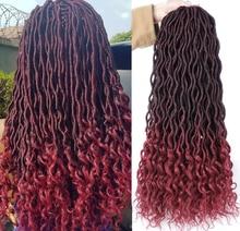 Bohemian Hair Extensions Curly Ombre Kanekalon Braiding Hair