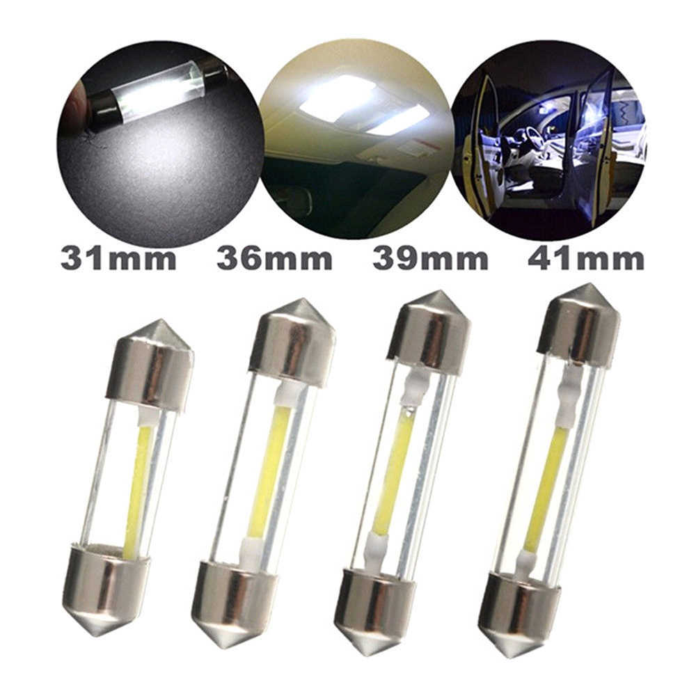 1pcs 31mm 36mm 39mm 41mm LED Bulb C5W Car Dome Light Auto Interior Map Roof Reading Lamp DC12V White Color