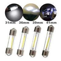 1 uds., 31mm, 36mm, 39mm, 41mm, bombilla LED C5W, luz de techo de automóvil, lámpara de lectura de techo de mapa Interior de coche, Color blanco DC12V