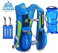 AONIJIE 5.5L Sport Running Lightweight Bag Marathon Cycling Bag Women Men Safety Gear Optional Water Bottles