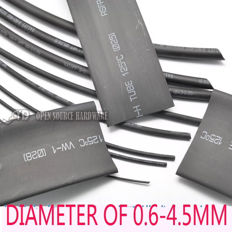328x Gaine Thermo-rétractable 2:1 1mm 2mm 3mm 4mm 6mm 8mm 10mm 14mm Shrink Tube