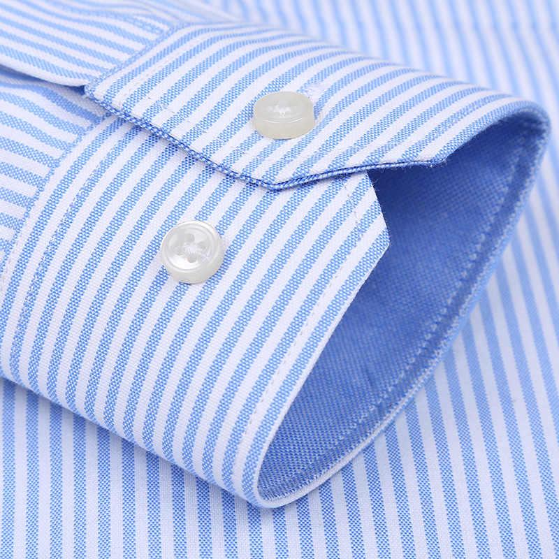Langmeng ブランド春夏 2019 メンズ長袖ストライプドレスシャツスリムフィット男性なソーシャル古典ビジネスフォーマルなカジュアルシャツ