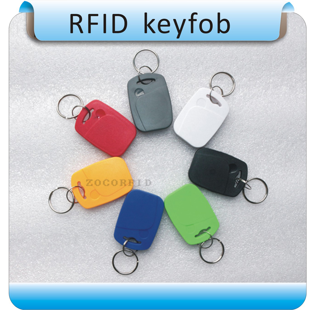 100PCS 1# 125Khz Working Frequency Proximity RFID Card Token Tags Key /Keyfobs For Access Control Time Attendance