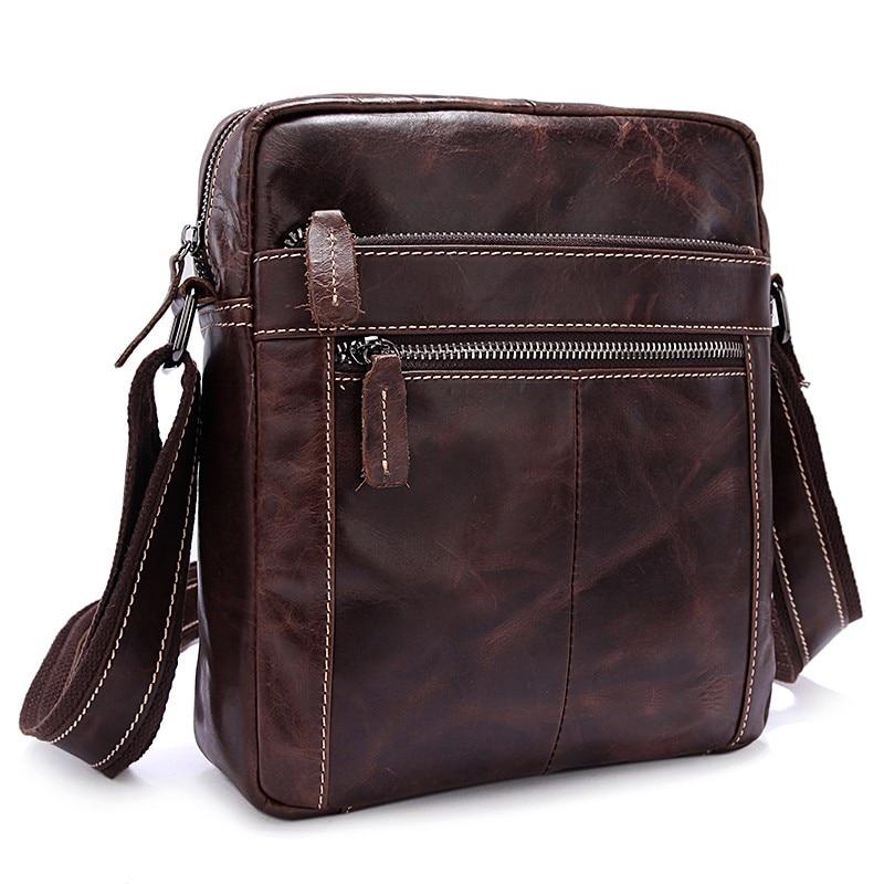MVA Lelaki Bahu Beg Kulit Asli Lelaki Beg Vintage Crossbody Bags - Beg tangan - Foto 2