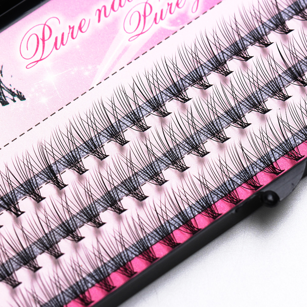 Fashion 60pcs Professional Makeup Individual Cluster Eye Lashes Grafting Fake False Eyelashes Free Shipping(China)