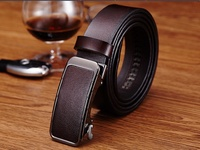 Hongmioo Mens Belts Luxury High Quality Automatic Buckle Belt Designer Leather Belt Men Casual Strap With
