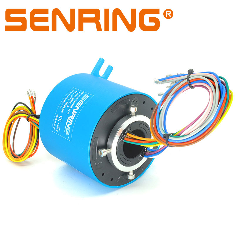 Through Bore Slip Ring 25.4mm Inner Diameter 86mm OD Size 12/18 Wires 2A/5A/10A Current Routing Hydraulic Or PneumaticThrough Bore Slip Ring 25.4mm Inner Diameter 86mm OD Size 12/18 Wires 2A/5A/10A Current Routing Hydraulic Or Pneumatic