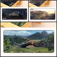 Yuzuoan World of Tanks большой размер 30×60/70/80/90 см резиновые игровой оверлок Мышь pad ноутбук коврик большой коврик против скольжения как подарок