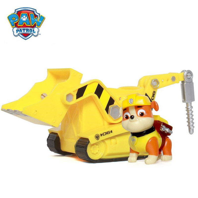 Paw patrol Puppy Patrol Dog Rubble Anime Toys Figurine Car Plastic Toy Action Figure model patrulla canina toys Children Gifts new 8 styles russian cartoon pat canine patrol puppy dog toys car action figures model dolls kids gift pow pet patrulla canina