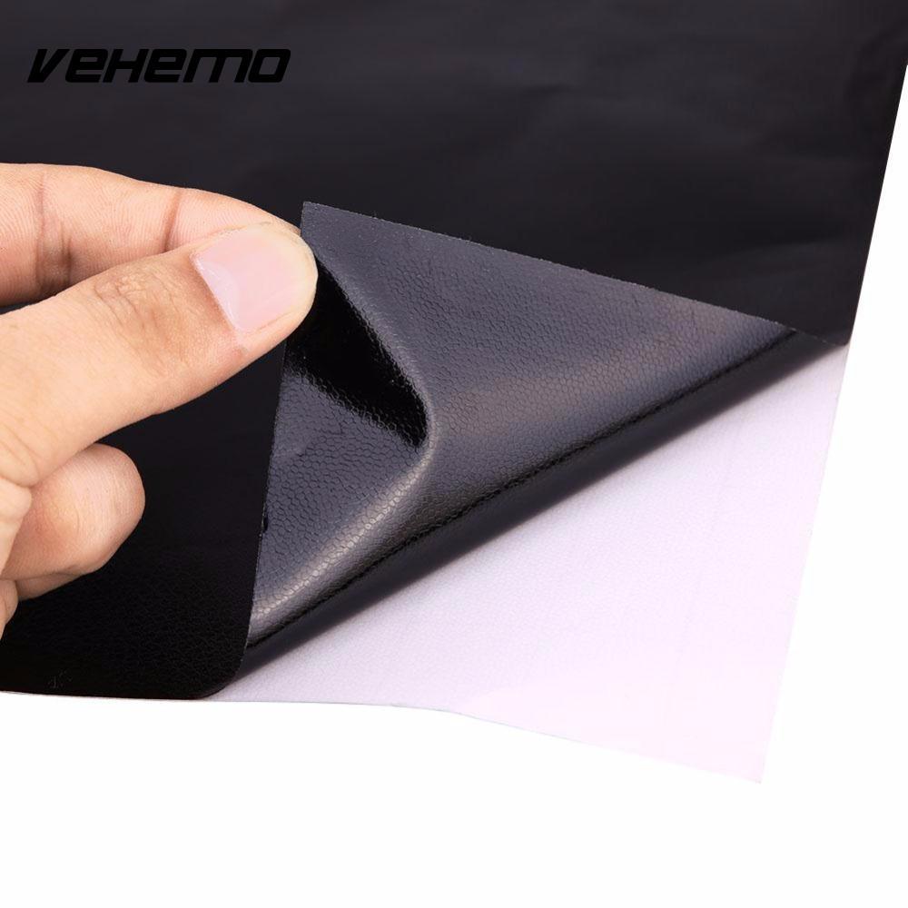 Vehemo 152x30CM Black 3D Leather Texture Sheet Car Auto Interior Trim Film Wrap Sticker