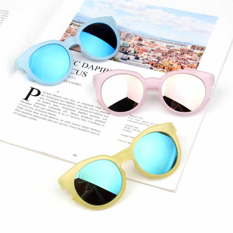 แว่นตาเด็กหญิง ANTI - UV แว่นตากันแดดร้อนเด็กเด็กคลาสสิก Retro น่ารักแว่นตา Sun แว่นตา Candy สีรอบแว่นตา