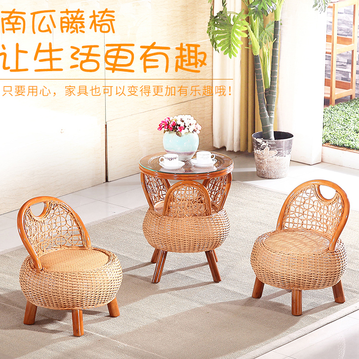 Rattan Sofas Tea Table Set 3 Pieces 2 Cane Coffee Chair 1 Table Home  Furniture Set Living Room Balcony Garden Sectional Sofa