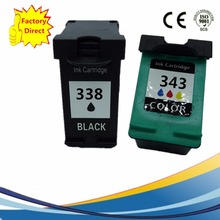 Ink Cartridges For HP 338 343 XL HP338 HP343 Deskjet 460c 5740 5745 6520 6540 6620 6840 9800 Officejet 6200 6210 7210 7310 7410