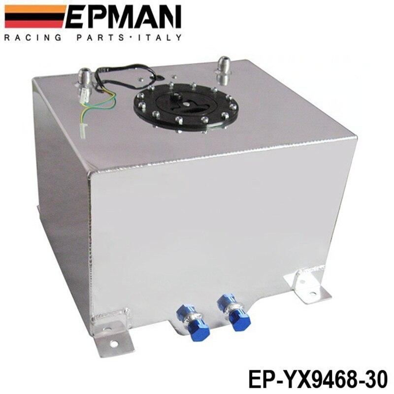 8 галлонов 30 л с серебряным покрытием алюминиевые Гонки/Дрифтинг топливных элементов Бензобак + уровень отправителя EP-YX9468-30