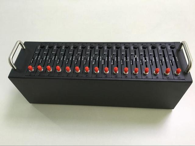 Wavecom Q24plus 16 Ports GSM GPRS Modem Pool With USB Interface Quadband Bulk sms modem Recharge system USSD STK IMEI changebale