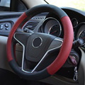 4 Colors Gnuine Leather Steering Wheel Cover Leather Sport Car Steering-wheel Cover Auto Car Stitch Car-covers For Diameter 38cm