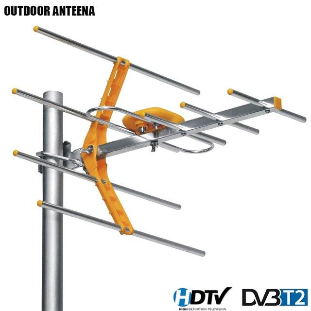 Цифровая наружная ТВ антенна HD для DVBT2 HD TV ISDBT ATSC с высоким коэффициентом усиления и сильным сигналом, наружная ТВ антенна