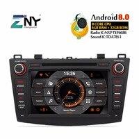 4GB RAM 8 Android 8.0 Car DVD For Mazda 3 2009 2010 2011 2012 2013 Auto Radio FM 8 Core CPU GPS Navigation Free Backup Camera