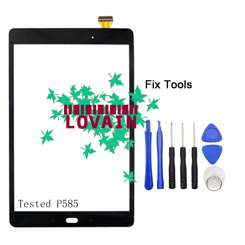 LOVAIN 1PCS For Samsung Galaxy P580 Tab A 10.1 2016 S Pen SM-P585Y P585N0 P585M Digitizer Glass Panel Touch Screen+Tools