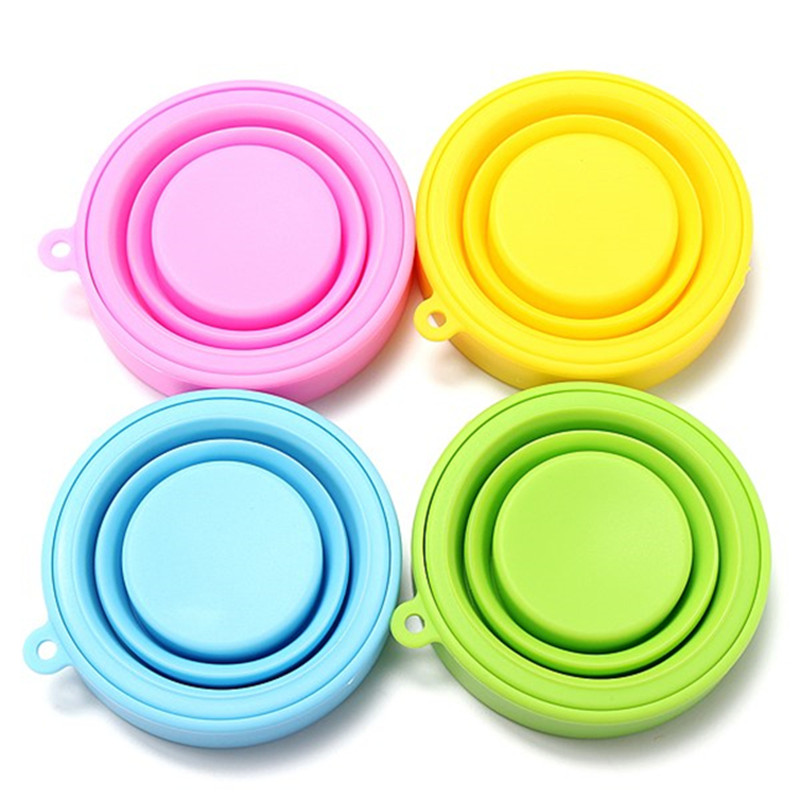 4Pcs/Lot Portable Collapsible <font><b>Candy</b></font> <font><b>Color</b></font> Silicone <font><b>Folding</b></font> Water Bottle <font><b>Travel</b></font> Outdoor Hiking Sports Camping Telescopic Bottle