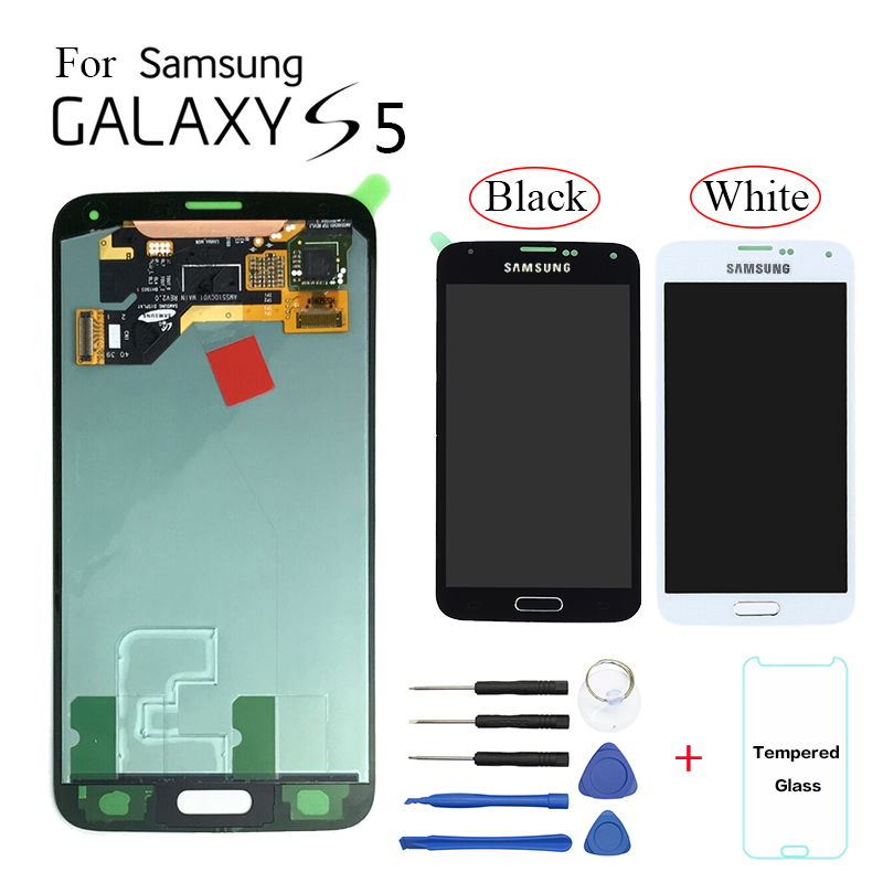 AMOLED For Samsung Galaxy S5 G900 SM G900F Display LCD Screen replacement for Samsung G900FD G9008W G900FQ lcd display module