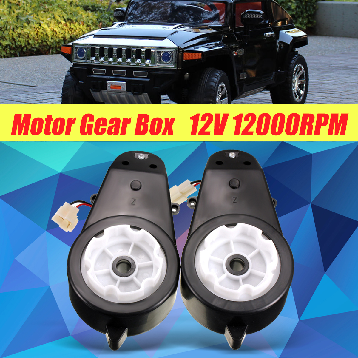 12V Kids Ride On Electric Car Motor Gear Box For BMW For Audi TT Hummer Rover For Jeep