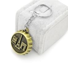 Bottle Cap souvenir Key Chains for Boys Gift Eiffel Tower Arc de Triomphe Notre Dame de Paris  Keychain for Male Wine Cap Gift стоимость