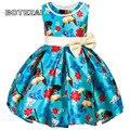 Meninas Traje Vestido Novo Verão Moda Infantil Vestido de Festa Arco Moana Princesa Vestidos Para Meninas Crianças Roupas de Bebê Roupas de Menina