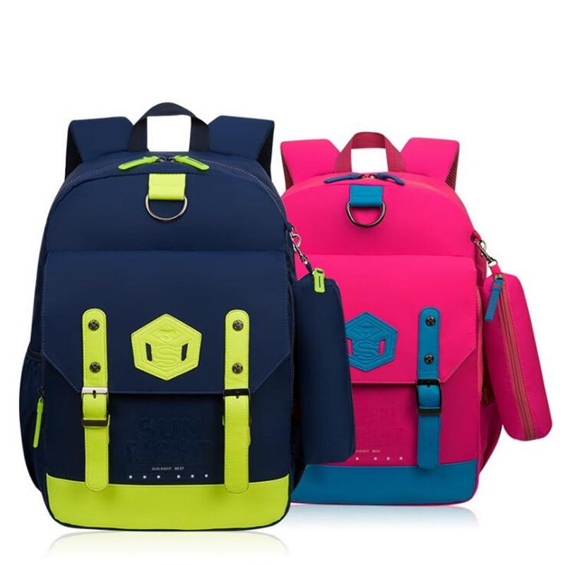 ФОТО 5 colors fashion children backpacks school primary kids bag large capacity school bag for girls boys mochila escolar grade2-6