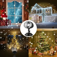 Outdoor Led Christmas Lights Displays Projector Show Rotating Projection Snowflake Lamp with Wireless Remote Outdoor Gadgets