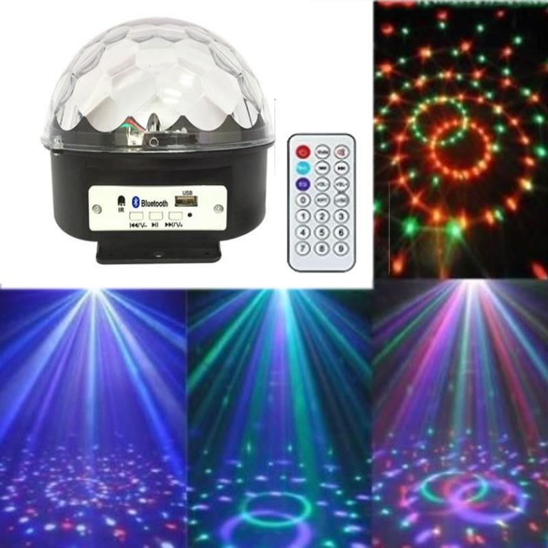 SPLEVISI Wireless Magic Ball USB RGB LED Stage Lights MP3 Bluetooth DJ Club Pub KTV Disco Project