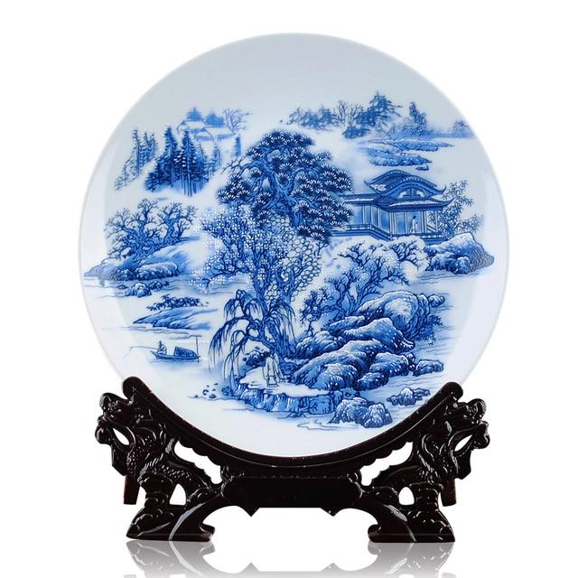 pastel blue and white porcelain decorative plate decoration modern fashion decoration flower decoration crafts gifts  sc 1 st  AliExpress.com & pastel blue and white porcelain decorative plate decoration modern ...