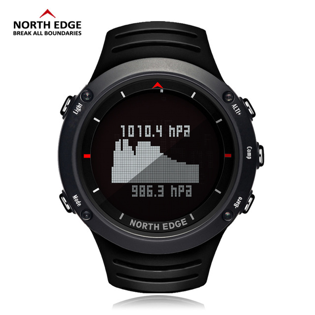 NORTH EDGE Men's sport Digital watch Hours Running Swimming sports watches Altimeter Barometer Compass Thermometer men 5