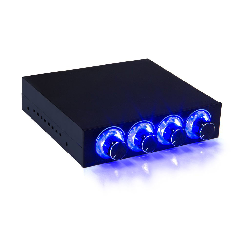 Fan Speed Controller 4 Channel W/ LED Controls Up To 4 Sets Of PC Computer Fans GDT Controller And CPU HDD VGA
