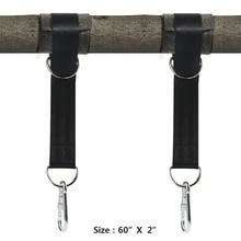 2 Kit de suspension de sangles doscillation darbre tient maximum 2200 LB avec deux mousquetons résistants accessoires de hamac de Camping solidité en plein air