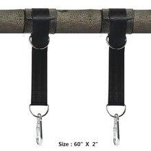2 boom Swing Bandjes Opknoping Kit Houdt Max 2200 LB met Twee Zware Karabijnhaken Camping Hangmat Accessoires stevigheid Outdoor