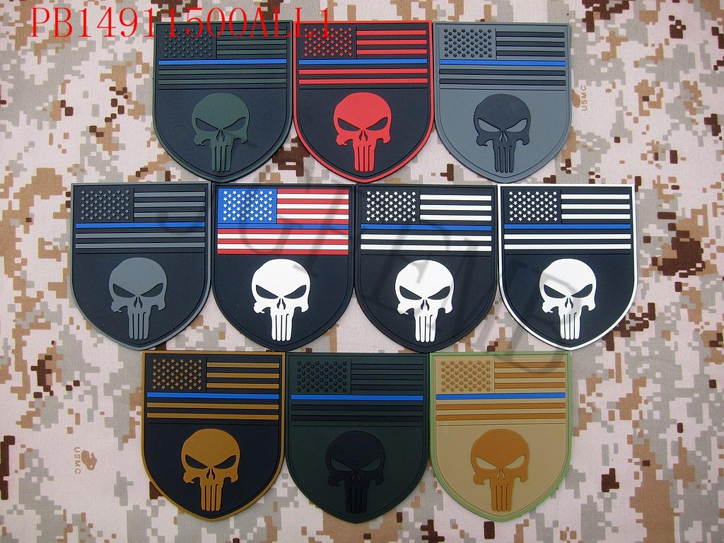 Tenká modrá čára Devgru SealTeam Skull americká vlajka DEVGRU - Umění, řemesla a šití